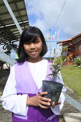 リナさん(11歳) ルンドゥム小学校