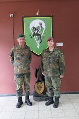 Generalleutnant Johann Langenegger und Oberst Thomas Geßner