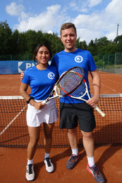Vy Bui Hong & Arne Huff Vereinsmeister Mixed-Doppel