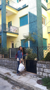 My home in Ioannina and Johanna, the other volunteer
