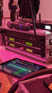 Funkmikrofone Digitalmischpult
