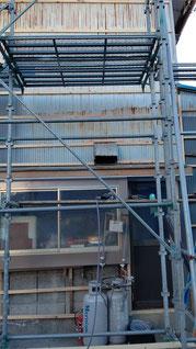 施工前外壁のもうちょっとズームの写真