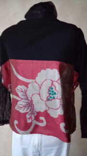 Soie de kimono Meisen poncho.