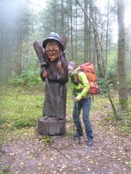 """Britta auf dem """"Sagenweg"""" in Rheinland Pfalz"""