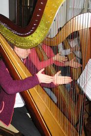 Seit vielen Jahren findet im Heimatmsuem das Harfenkonzert statt. Das Foto stammt aus dem Jahr 2018.