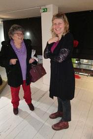 Jeanine Rivais et Lauransse, exposante venue de Belgique