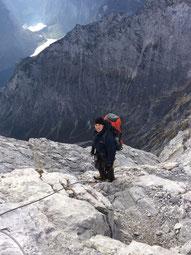 auf dem Grat zur Watzmann Südspitze