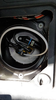 Dieselleitung angeschlossen