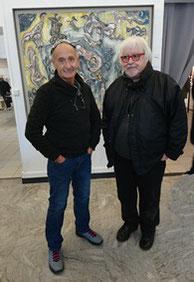 Louis Molle, Président de l'Association, et Philippe Aïni exposant