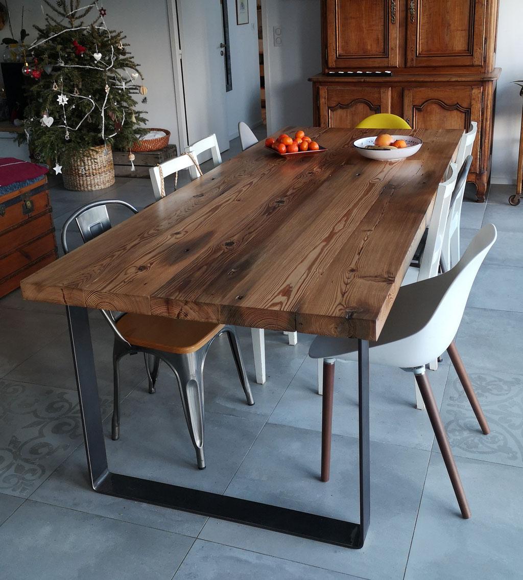 pied de table en métal robuste pour table à manger