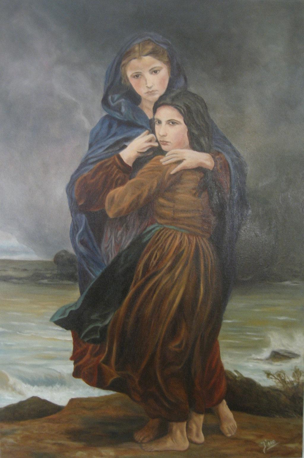 l'Orage (naar schilderij W.A. Bougereau)
