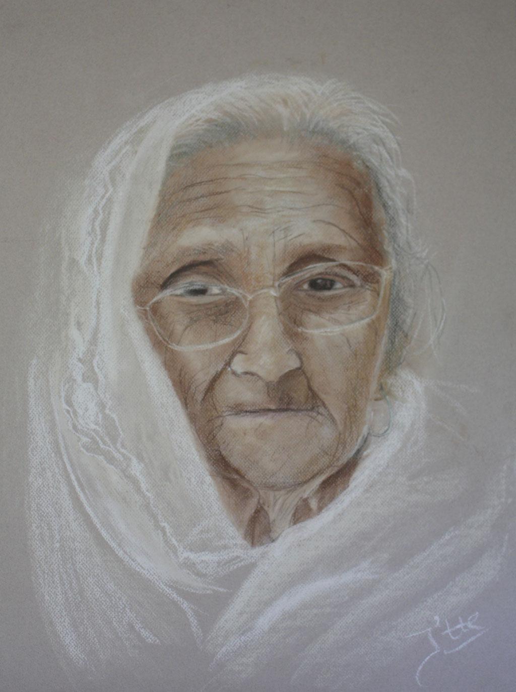 Portret Indiase vrouw