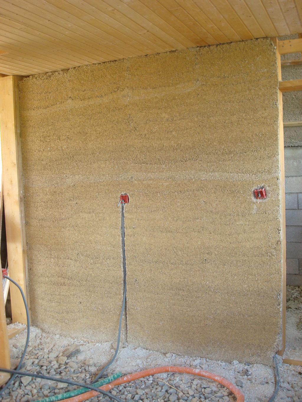 Murs banché béton de chanvre