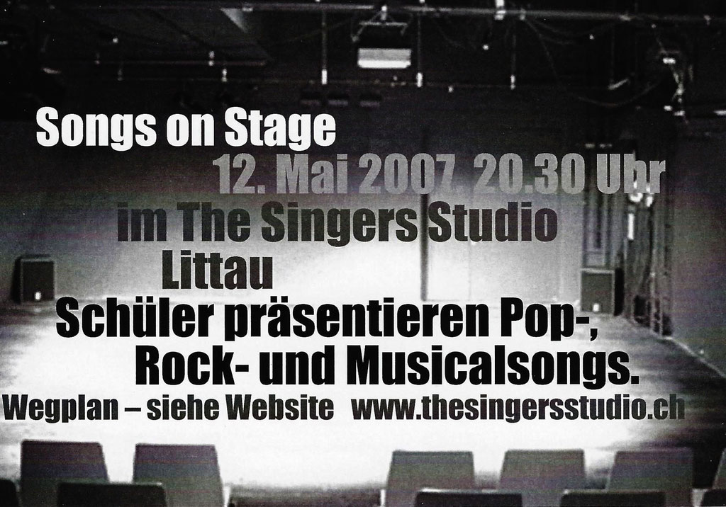 2007 KONZERT - SONGS ON STAGE