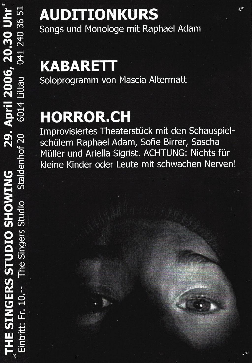 2006 THEATERSTÜCK - HORROR.CH