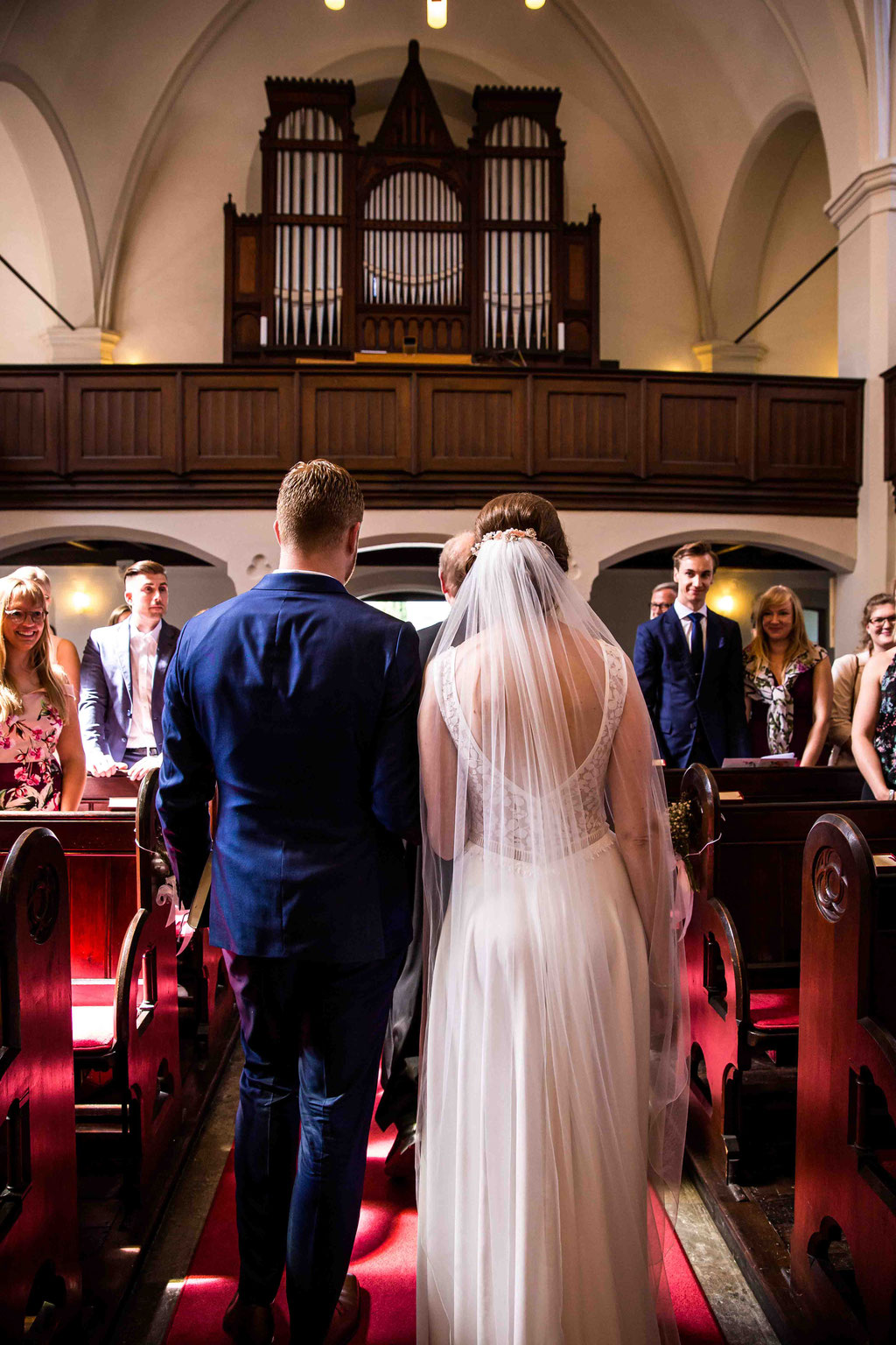 Eheversprechen, Segnung an der Hochzeit, Trauung in der Kirche, Hochzeitsfoto