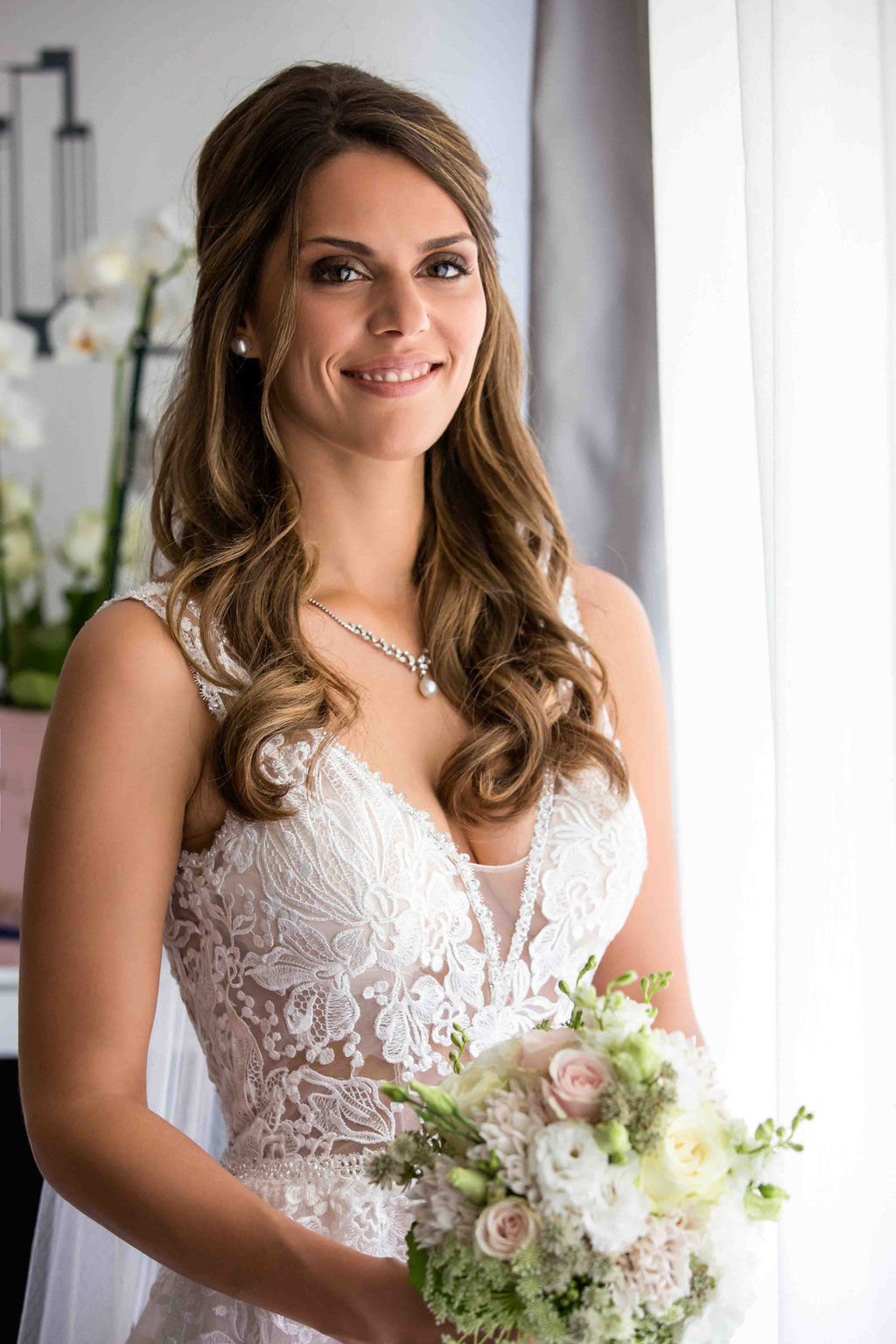 Brautporträt vor der Hochzeit, ein Hochzeitsgeschenk vom Hochzeitsfotograf
