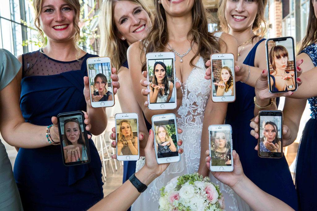 Kreative Hochzeitsfotografie, lustige Hochzeitsbilder, amüsante Hochzeitsfotos, coole Hochzeitsbilder