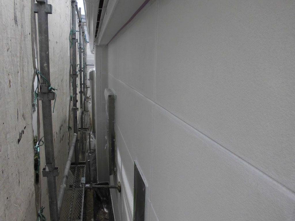 外壁(ALC)/高圧洗浄、下地処理、下塗り塗装