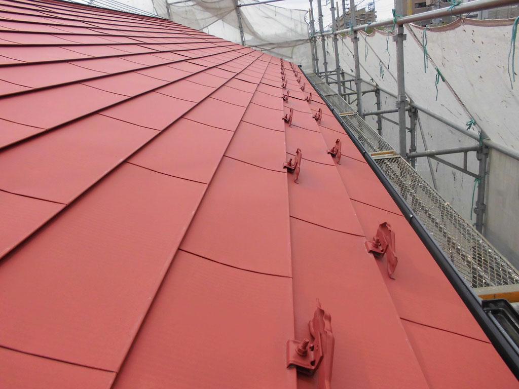 屋根(ガルバニウム鋼板)/錆止め塗装