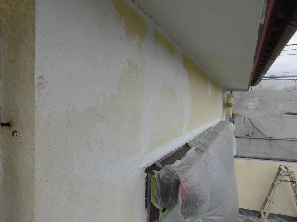 外壁(モルタル)シリコン部分補修