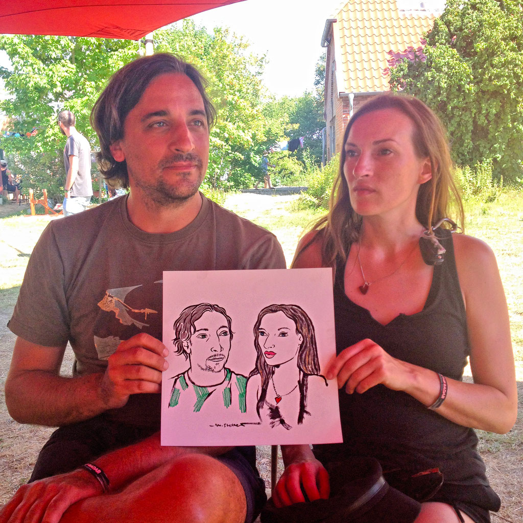 Portraitzeichnen beim Off the Radar - Festival.