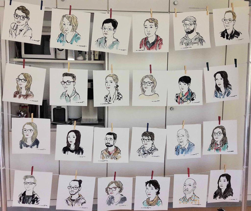 Portraits der Belegschaft KZ-Gedenkstätte Osthofen.