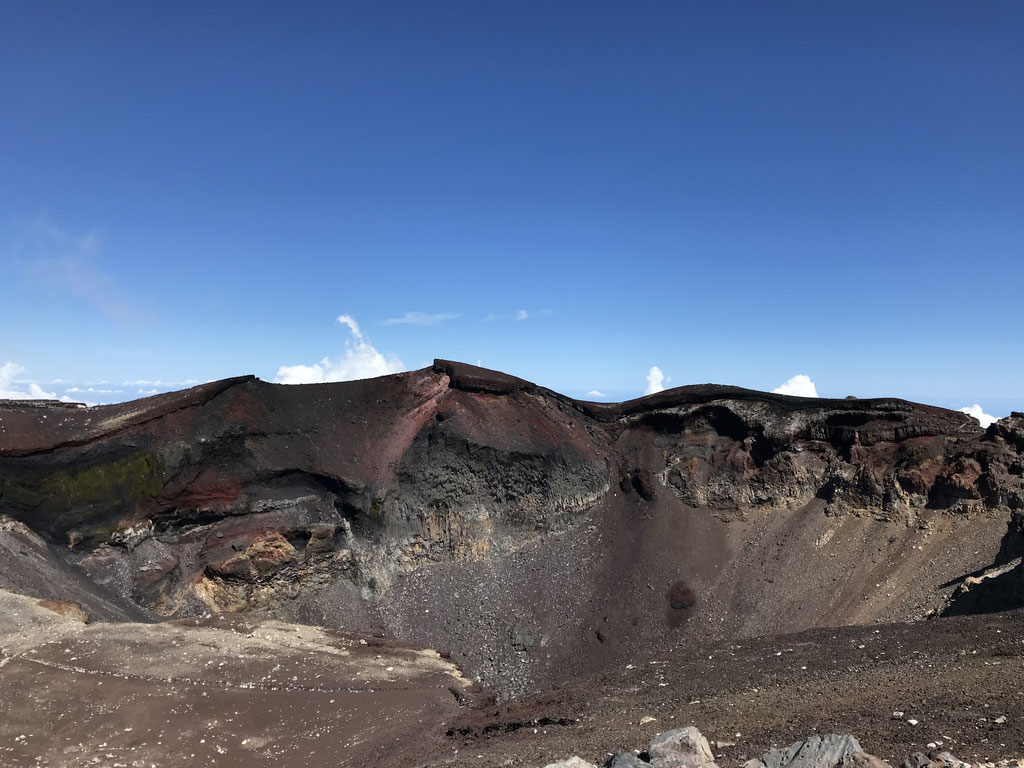 Mt Fuji's Crater is immense! It takes over 30 minutes to hike around it.