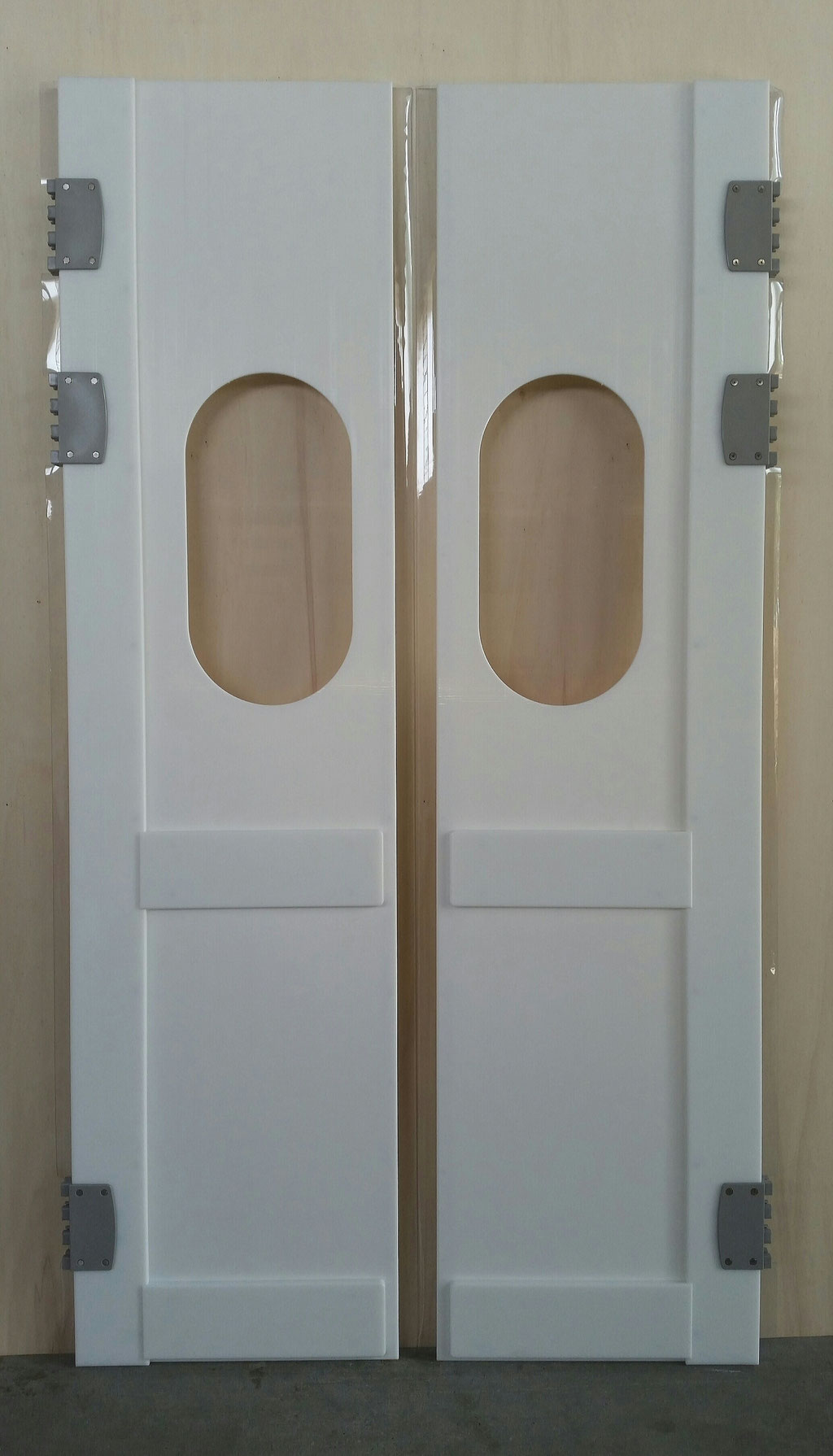 Porta polietilene va-vieni per celle frigo