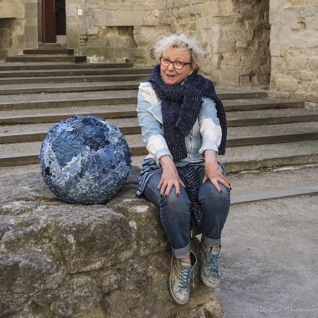 Annette Hardouin, ennoblisseur et créatrice textile (Pastel)