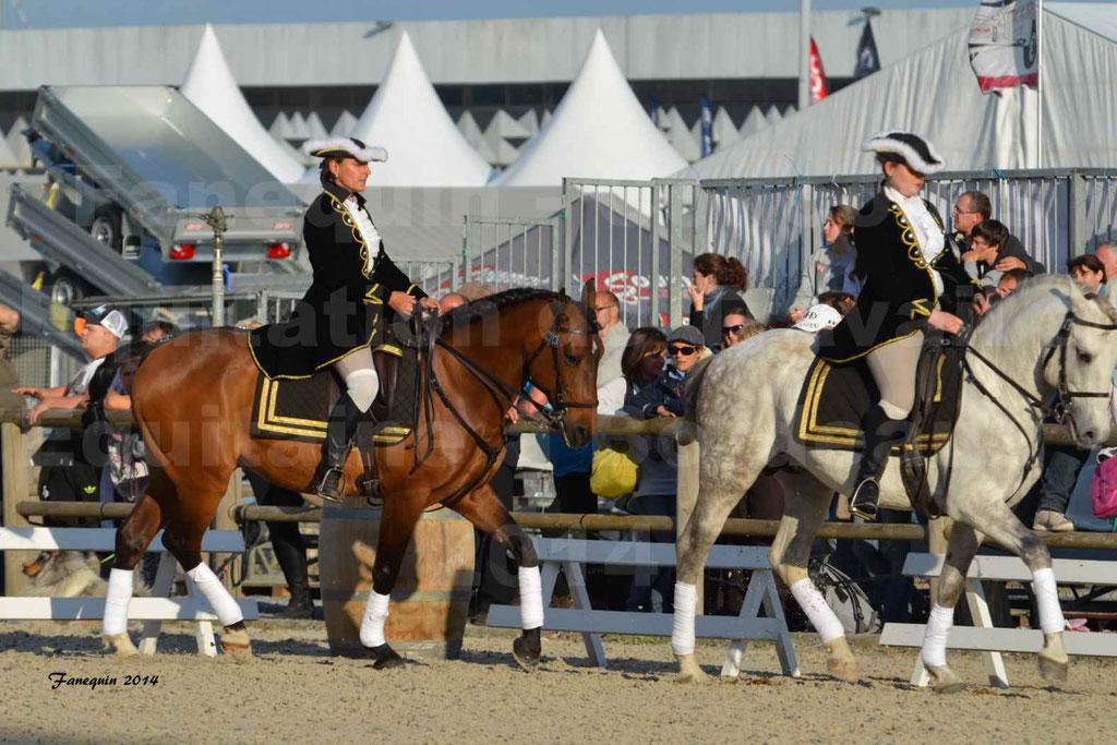 """Carrousel de cavalières Equitation de travail lors du salon """"Equitaine"""" à Bordeaux en 2014 - 27"""