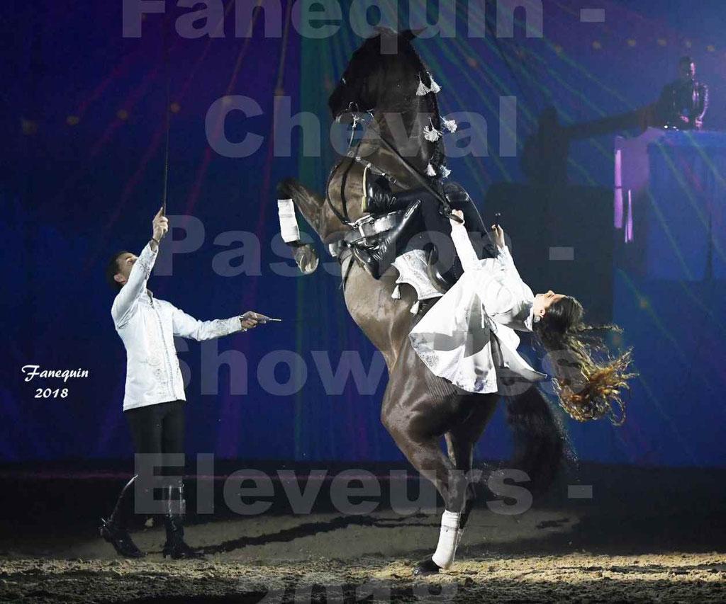 Cheval Passion 2018 - Spectacle Les Crinières d'OR 2018 - Couple & chevaux en liberté