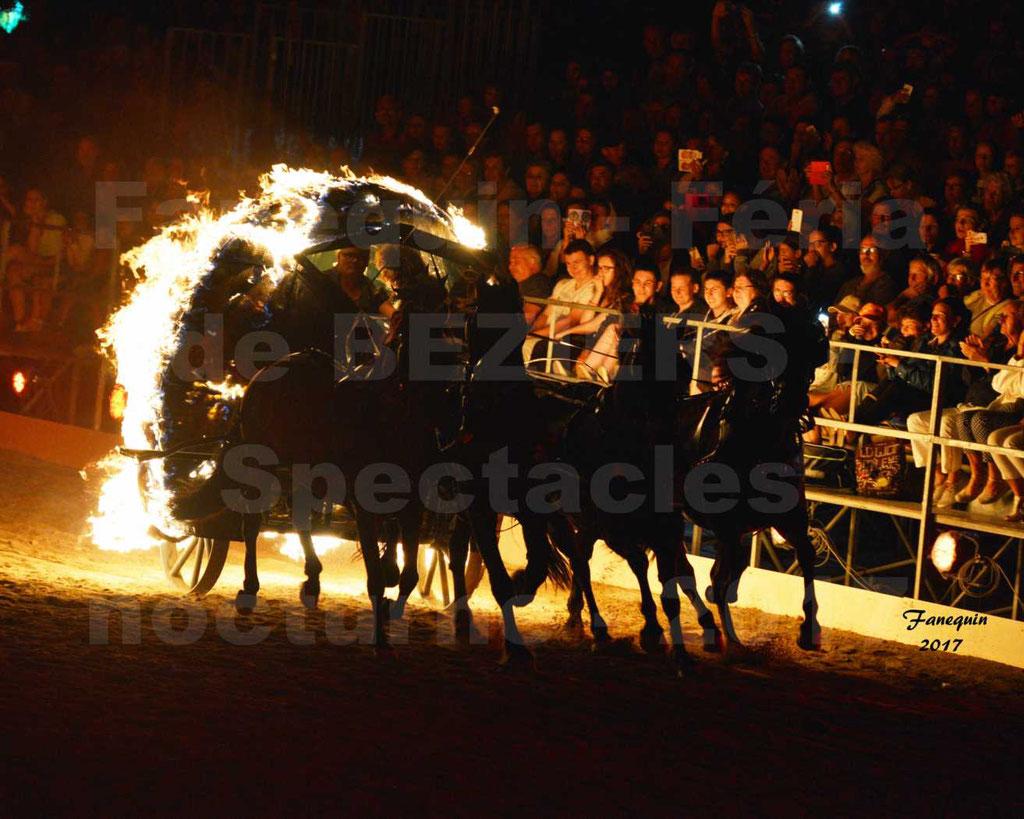 """""""Nuits Équestres"""" - Féria de BEZIERS 2017 - """"Boule de feu"""" tirée par 4 chevaux de champs"""
