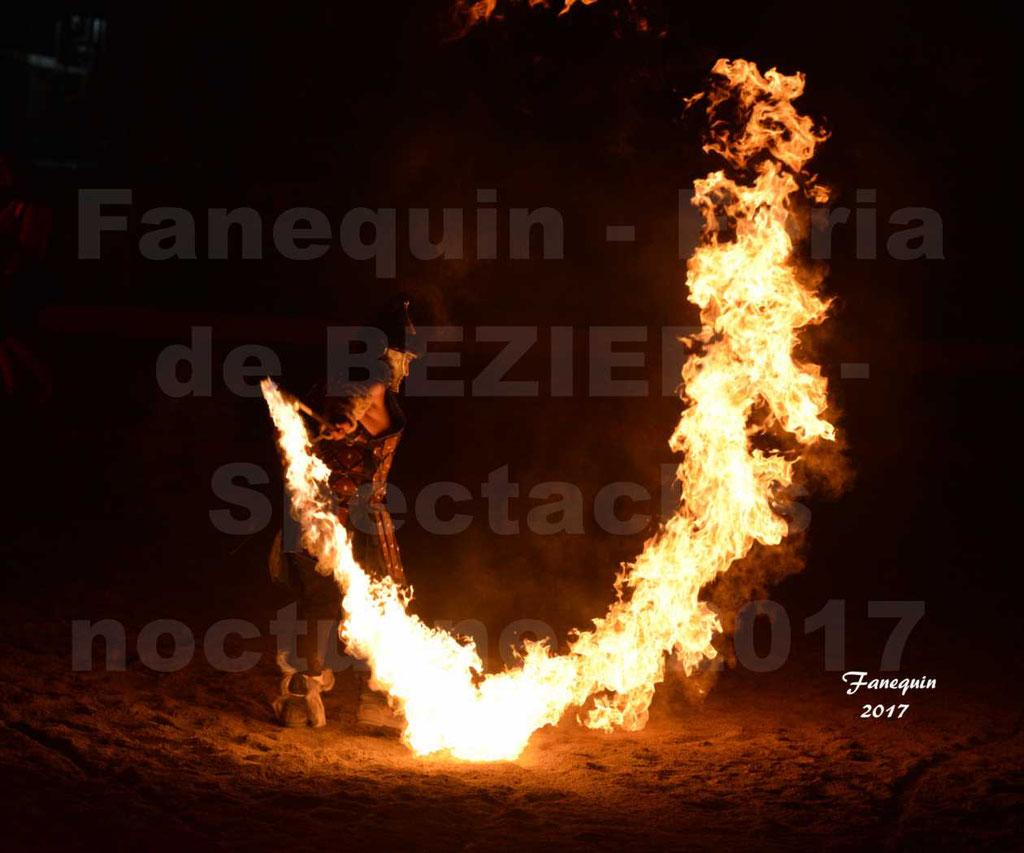 Nuits Équestres lors de la Féria de BEZIERS 2017 - Lanceurs de feu la Compagnie IMPULSION