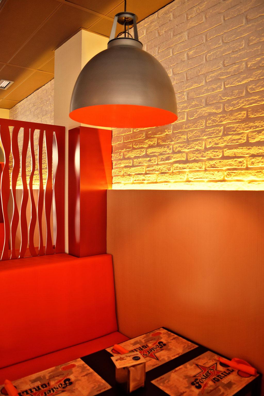 Resultado de imagen de decoracion restaurantes hamburgueserias