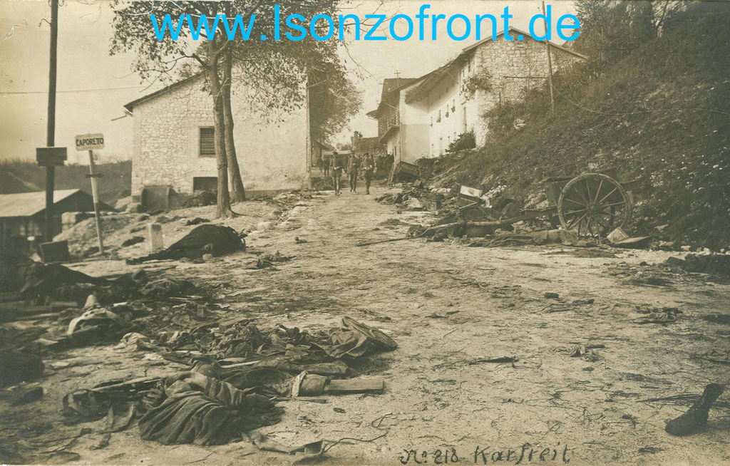 Kobarid / Karfreit am 24.10.1917. Sammlung www.Isonzofront.de