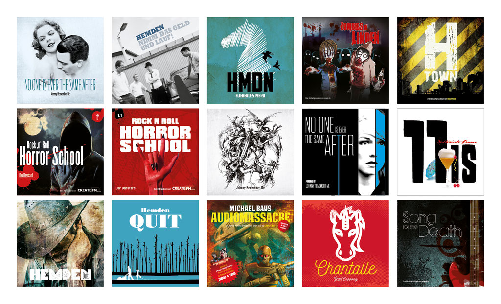 Diverse CD-Cover | Singles, Entwurfsarbeiten