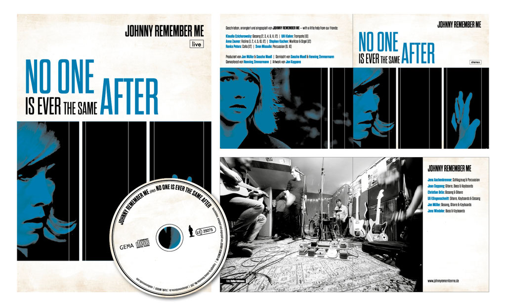 "CD-Artwork u. Tourplakat | ""Johnny Remember Me"""