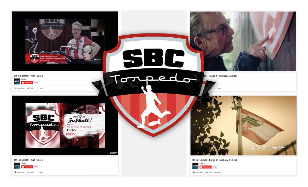 "Logodesign ""SBC Torpedo"" | TELE 5 Comedy-Serie ""Dit is Fußball"" (u.a. mit M. Semmelrogge, G. Schweighöfer | Autor: Oliver Rieche)"