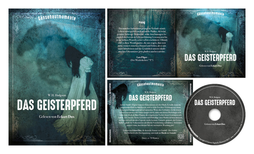 "CD-Artwork u. Plakat  | Hörbuch ""Das Geisterpferd"" | Carsten Sygusch, Gänsehautmomente"