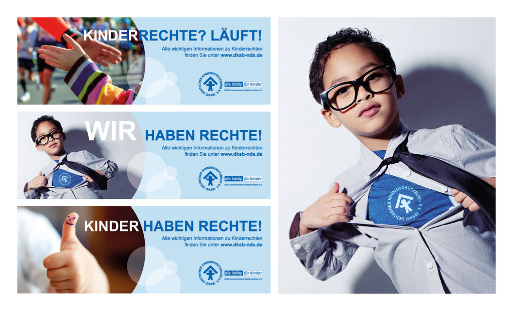 Banner für den Küstenmarathon zum Weltkindertag in Cuxhaven  | Deutscher Kinderschutzbund e.V.