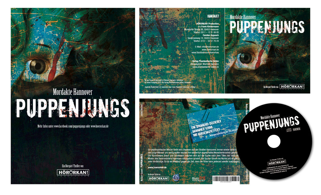 "CD-Artwork u. Plakat | Hörspiel ""Puppenjungs"" 