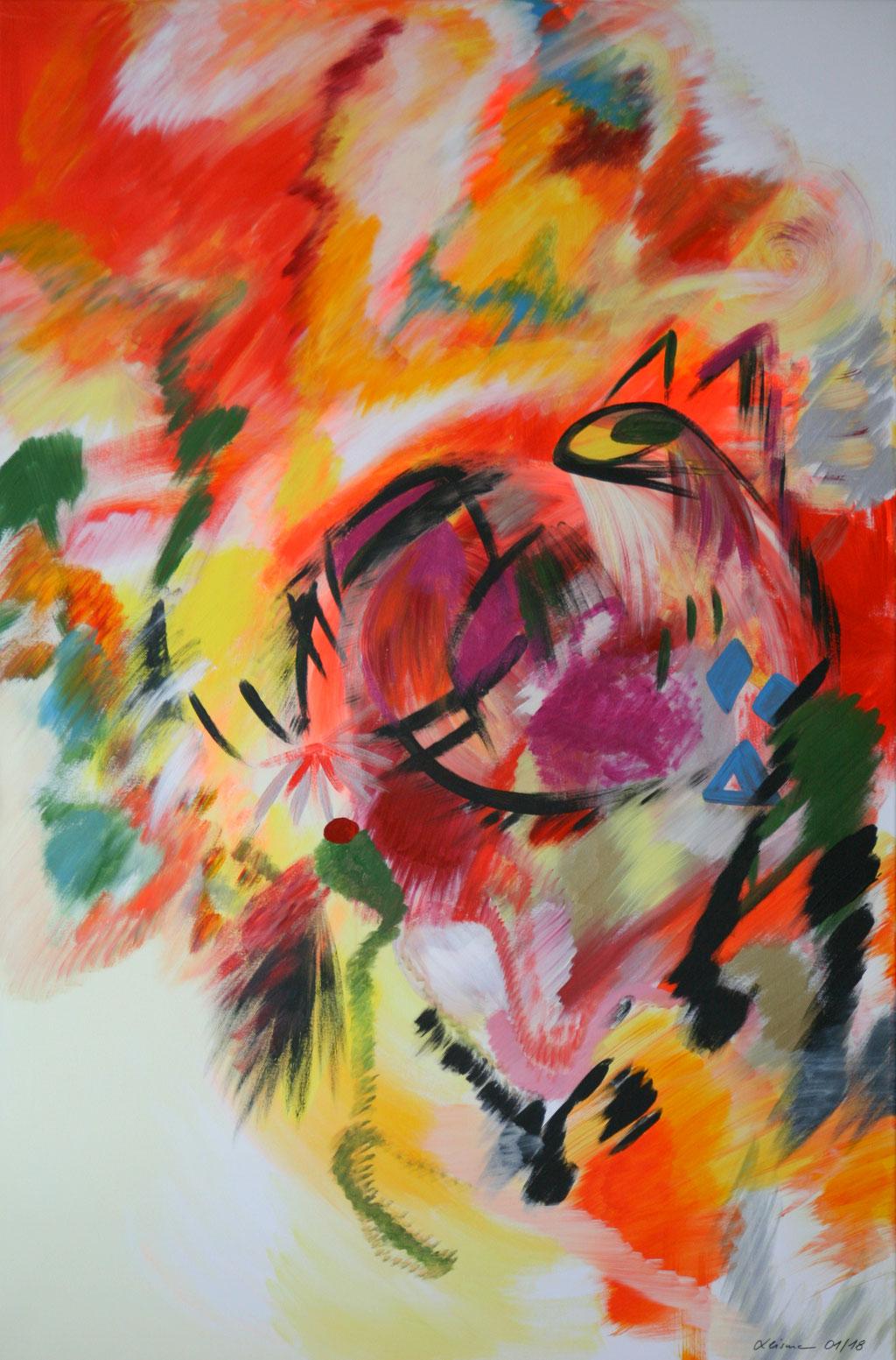 Ouroboros - Selbstgenügsamkeit    120 cm x 80 cm