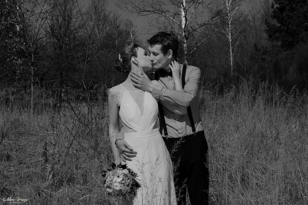 Der Kuss des Brautpaares