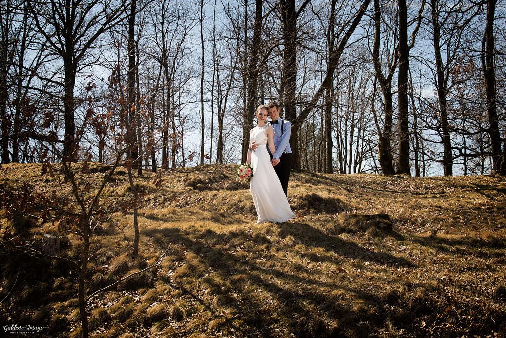 Das brautpaar in der Dresdner Heide