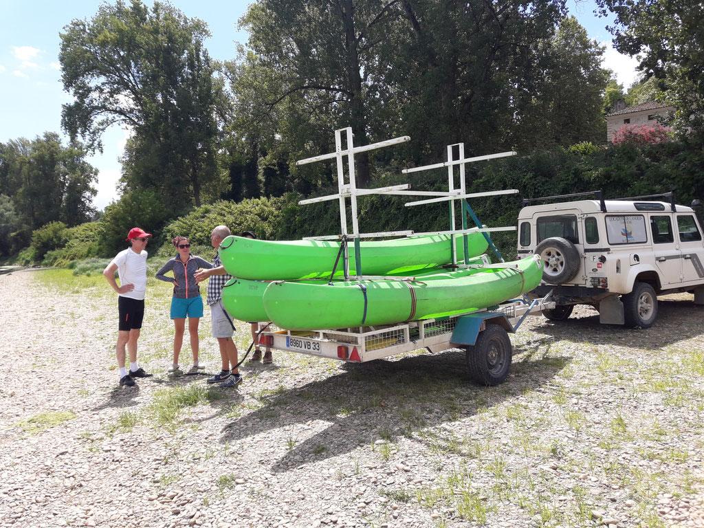 pratique du canoé en Entre deux mers