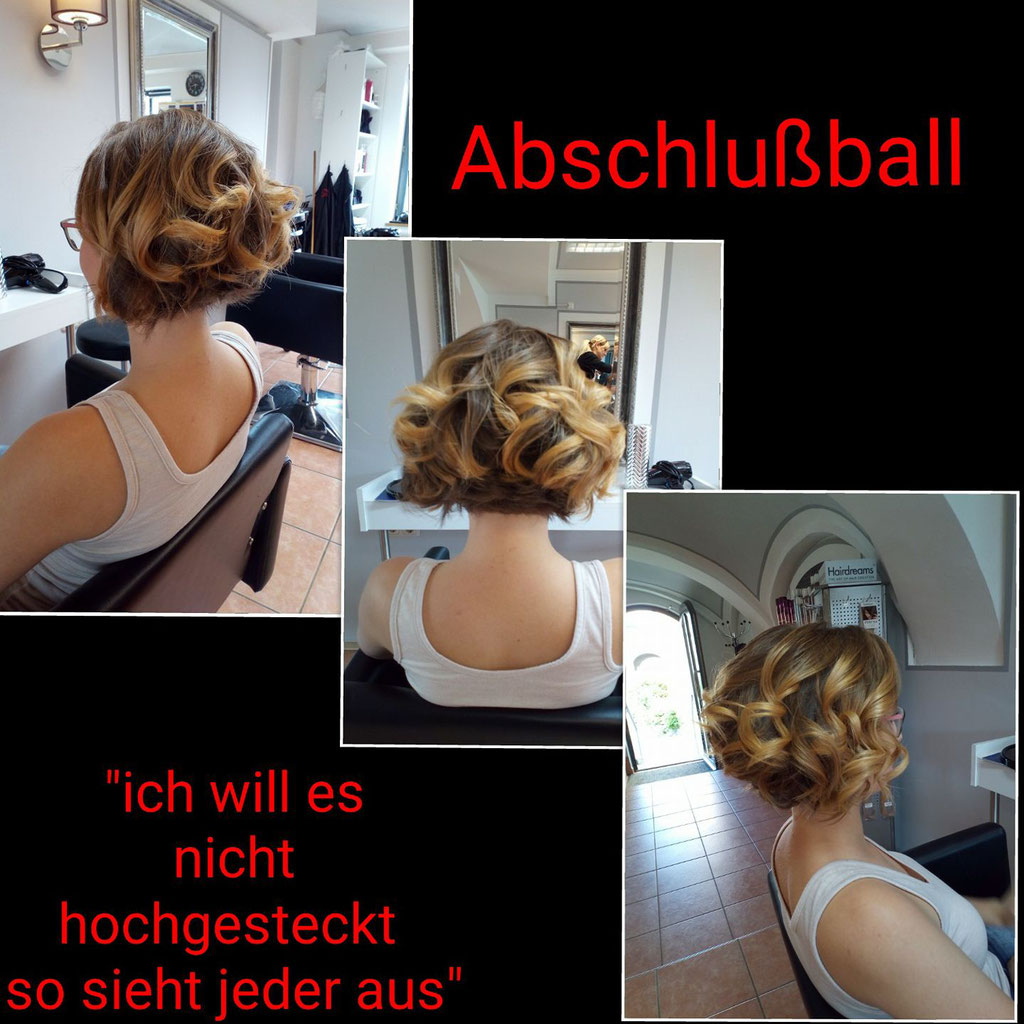 Abschlussball-Frisur