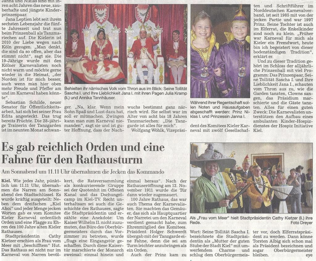 Kieler Nachrichten 10.01.2011