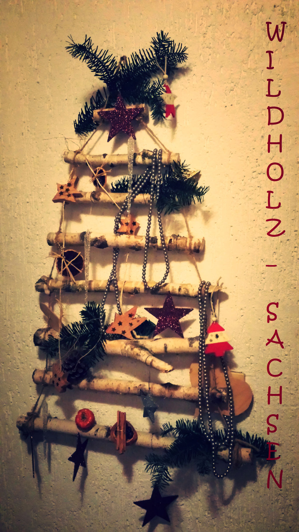 Weihnachtsbaum mal anders   (Birke)