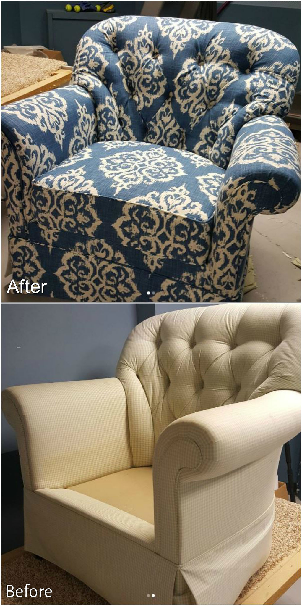 Cape reupholstered chairs